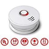 Smoke Detector, Ardwolf 2 Pack Photoelectric Smoke and Fire Alarm with UL Listed GS528A Battery-Powered (9V Battery Included),10 Years Life Time, Save Lives When Fire Happen at Home, Hotel, School