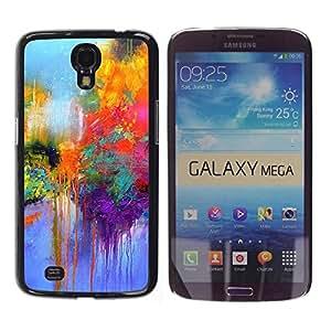 """Pulsar Snap-on Series Teléfono Carcasa Funda Case Caso para Samsung Galaxy Mega 6.3 , Calle Paris colorido Pintura Lluvia"""""""