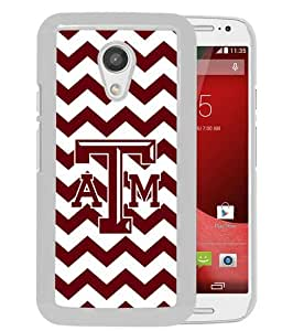 Popular Custom Designed Case For Motorola Moto G 2nd Generation With Southeastern Conference SEC Football Texas A&M Aggies 02 White Phone Case