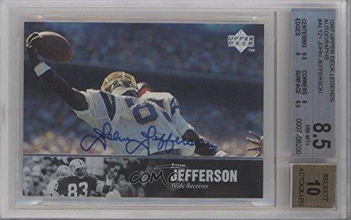John Jefferson BGS GRADED 8.5 (Football Card) 1997 Upper Deck NFL Legends - Autographs #AL-121