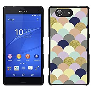 A-type Arte & diseño plástico duro Fundas Cover Cubre Hard Case Cover para Sony Xperia Z3 Compact / Z3 Mini (Not Z3) (Art Clouds Bubbles Colorful Golden)