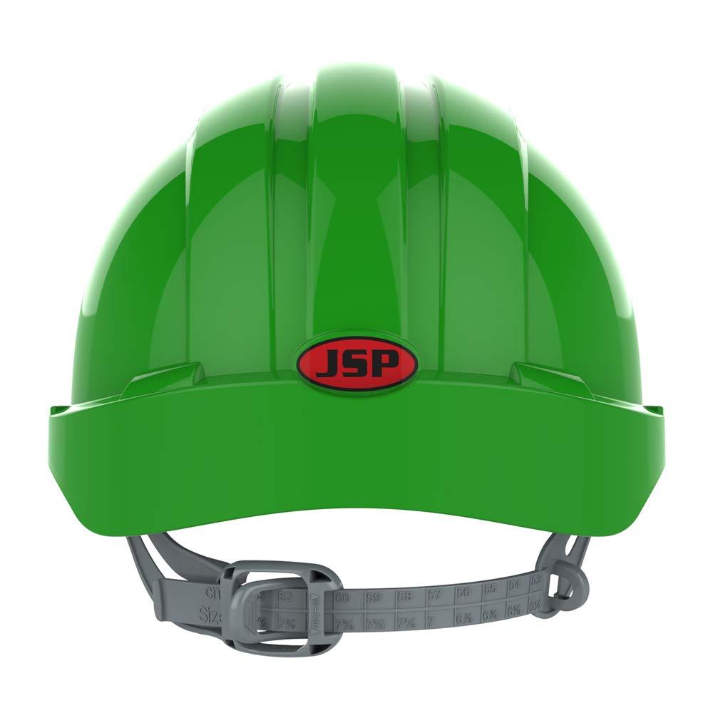 Casco de seguridad con trinquete antideslizante color naranja JSP AJF030-000-800 EVO2 ventilado