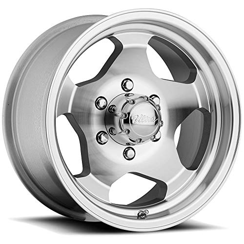 Ultra Wheel 50K Silver Wheel with Machined (15 x 7. inches /6 x 5 inches, -6 mm Offset) 15 Inch Machined Wheels