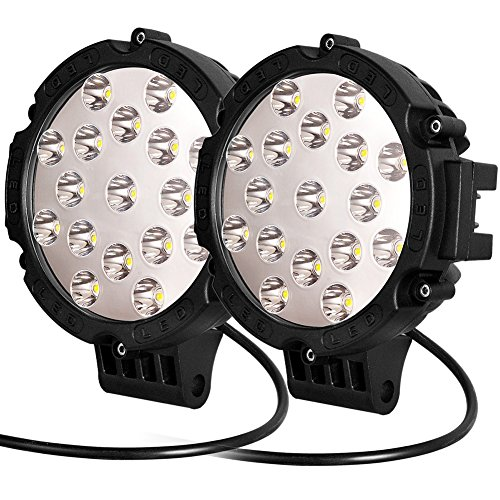 "UPC 702604052354, Oplips 2 x Black 51w Round Led Light 7"" Spot Work Off Road Fog Driving Roof Bar Bumper for SUV Boat 4x4 Jeep Lamp (2 x 51w Work Light)"