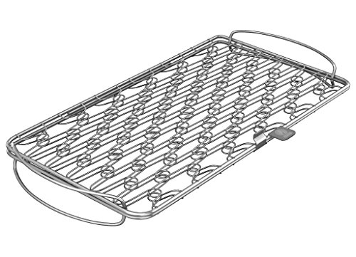 Fish Grill Basket LG - PERFECT FOR LARGE THICK FISHES - BBQ Rack Made From Dishwasher Safe Stainless Steel with Wire Mesh Food Holder - Great for Grilling Barbecue Vegetables & Shrimp - Cave Tools (Net Pot Dome)