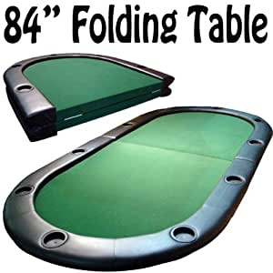 Folding poker table with legs