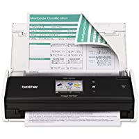 Brother ADS1500W ImageCenter ADS-1500W Wireless Compact Scanner, 600 x 600 dpi, 20 Sheet ADF