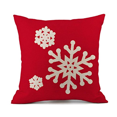 Boomboom Christmas Pillow Cases, Lovely Christmas Snow Santa Claus Pillow Cases (A)]()