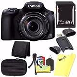Canon PowerShot SX60 HS Digital Camera + 16GB SDHC Card +Card Reader + Card Wallet + Fiber Cloth + (International Model)