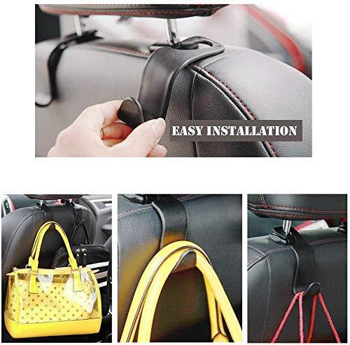 -36 Auto Back Front Seat Organizer Holder Hooks for Bag Car Headrest Hook Handbag Black//2-Pack Purse