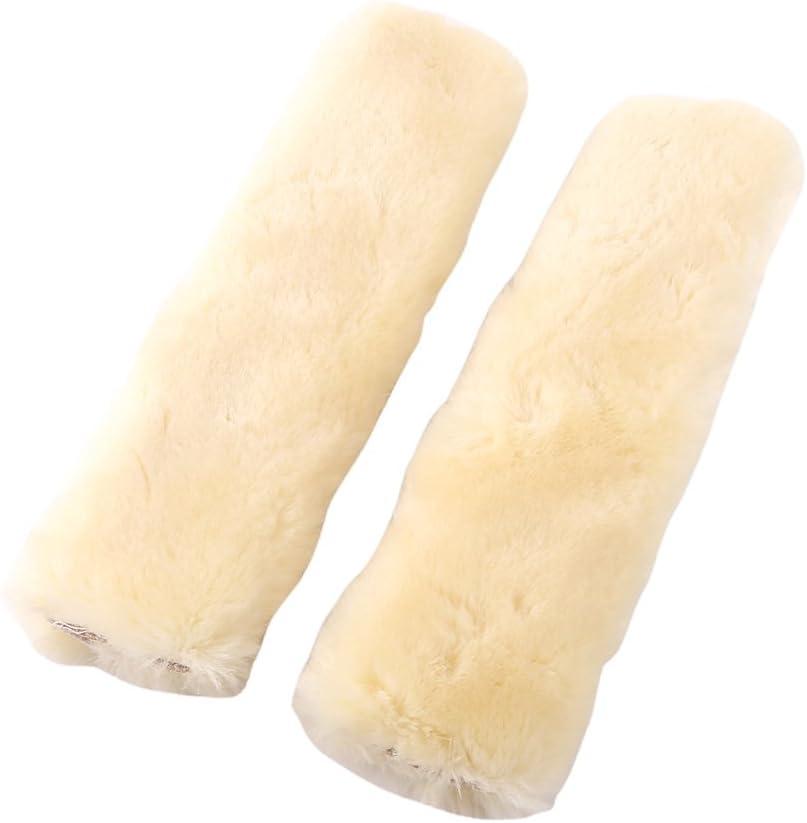 Ceinture de s/écurit/é Coque en peluche 1/paire Coussinets pour ceinture S/écurit/é Auto doux ceintures Sangle Wrap Housse /épaule Sleeve Pad protection