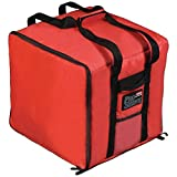 Rubbermaid ProServe Red Nylon Medium Food Delivery Bag - 19 3/4''L x 19 3/4''W x 13''H