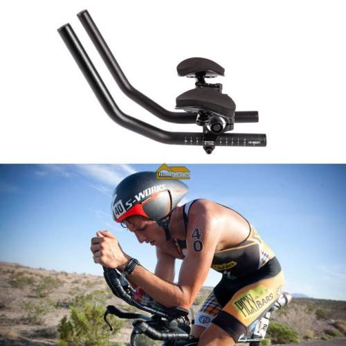 COOLOH TT Handlebar Aero Bars Triathlon Time Trial Tri Cycling Bike Rest Handlebar for Bicycle Aerobars, Moutain Bike or Road -