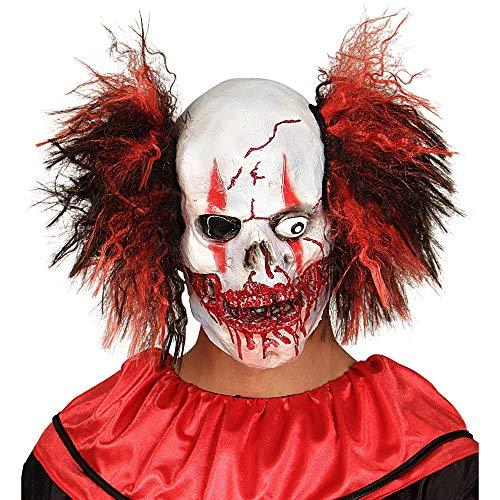 WIDMANN - Mascara para disfraz de adulto con diseno payaso sanguinario, talla unica (1019)