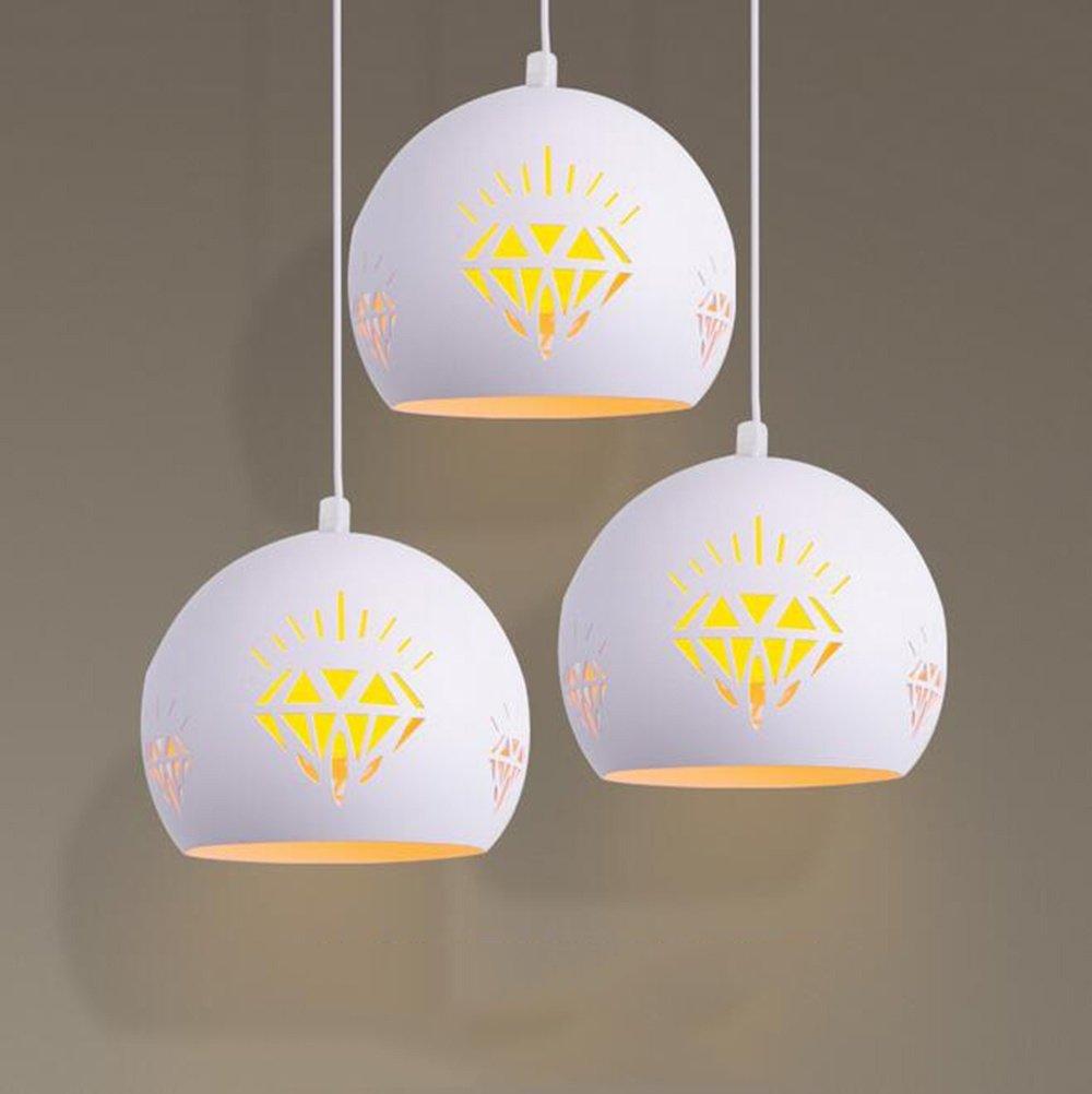 XUEXIN Macarons Art Restaurant Lamps Modern Round Chandelier for Bar lamp Restaurant Pendant Lights, warm light