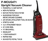 Panasonic Vacuum Cleaner MC-UG471 12-Amp Motor Bagged Upright with HEPA Filter and Cleaning Attachments, Corded