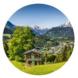 alfombrilla de ratón Paisaje escénico en los Alpes de Baviera, Berchtesgaden, Alemania - ronda - 20cm