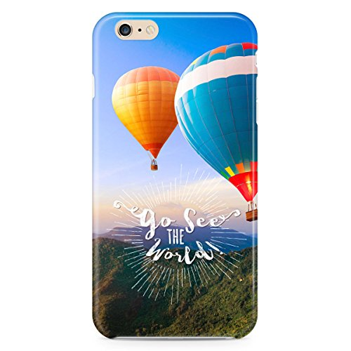Phone Case For Apple iPhone 6 Plus - Go See The World Travel Protective Wrap-Around