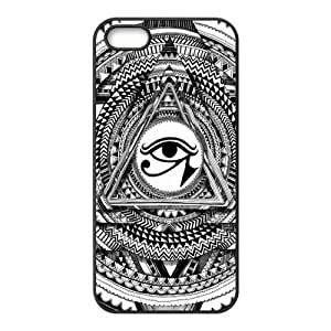 Pyramid Illuminati Don't Trust Anyone Triangle Protective Rubber Printed Cover Case for iPhone 5,iPhone 5s Cases