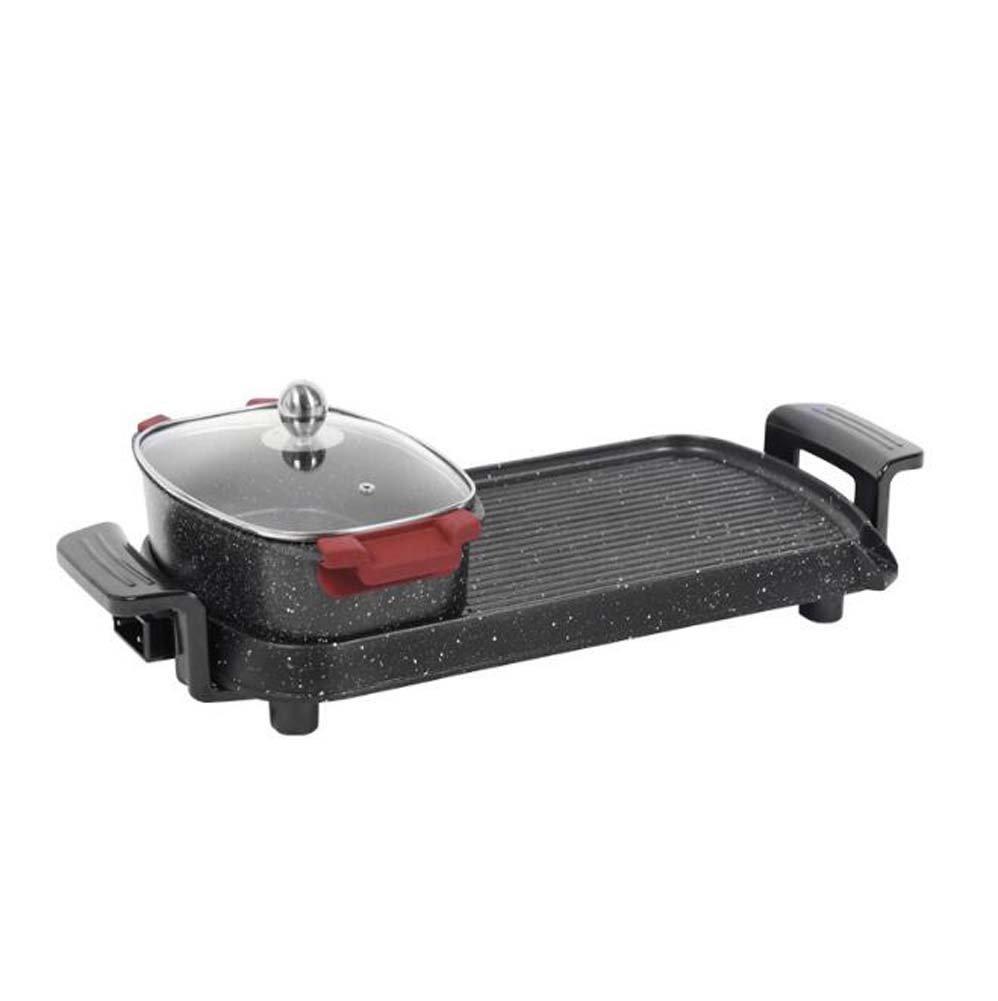Familie Grill Dual Control Abnehmbare Elektrische Ofen Elektrische Grill Pfanne Braten Ein Shabu Shabu