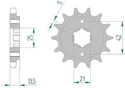/1988 /15/# 530/para Ducati Indiana 350/1987/ Pi/ñ/ón 46600/