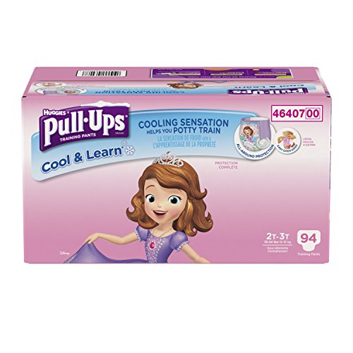 Pull-Ups Cool & Learn Training Pants for Girls, 2T-3T, 94 Count
