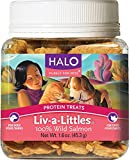 Halo Liv-a-Littles Natural Treats for Dogs and Cats, Freeze-Dried Wild Salmon Protein, 1.6-Ounce (Pack of 3) , Halo-tgsh Review