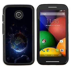 Caucho caso de Shell duro de la cubierta de accesorios de protección BY RAYDREAMMM - Motorola Moto E - Planet Space Tierra
