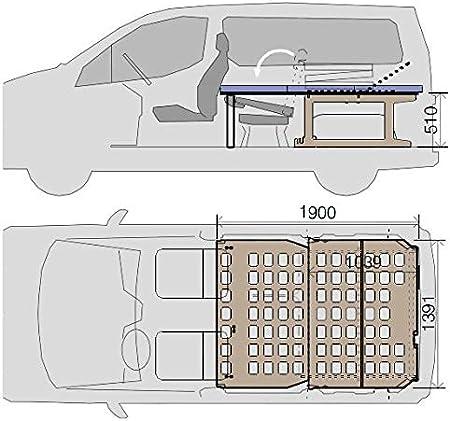 Amazon.es: Camporan - Kit camper con colchón plegable para NV200 y Evalia