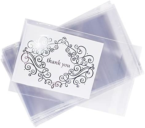 picture of Clear Resealable Display Cellophane Bags Gift Treat Basket Supplies, Adhesive