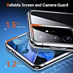 Cassby EXLUSIVE Silicon Transparent with Camera Lens Protection Shockproof Slim Back Cover Case for Samsung Galaxy S21…