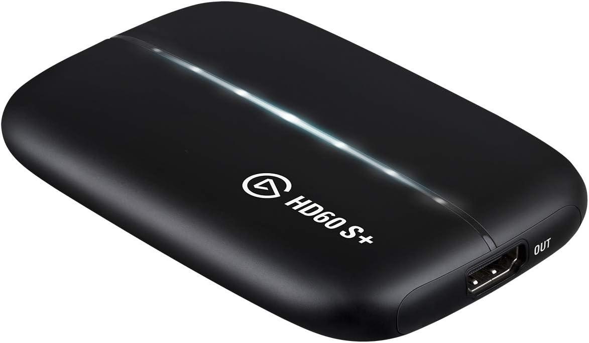 Elgato HD60 S+, Tarjeta de captura, captura a 1080p60 HDR10, traspaso sin retardo 4K60 HDR10, latencia ultrabaja, PS5, PS4/Pro, Xbox Series X/S, Xbox One X/S, USB 3.0