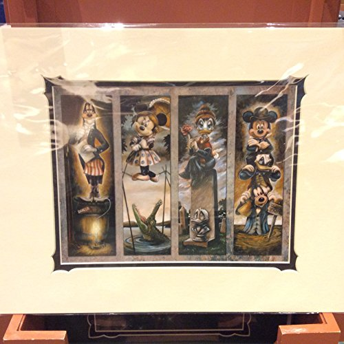 Disney Parks Haunted Mansion Stretch Painting Characters Print By Darren Wilson