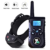 Training Dog Collar - Fiddy Dog Training Shock Collar, Waterproof Bark Collar and 550 Yard Remote for Small Medium Large Dogs,Beep Vibration and Shock 3 Training Modes (Black)