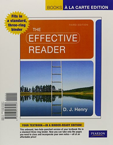 Effective Reader, The Books a la Carte Plus NEW MyReadingLab -- Access Card Package (3rd Edition)