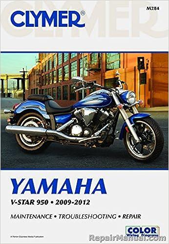 m284 clymer 2009 – 2012 yamaha v-star 950 workshop repair manual:  manufacturer: amazon com: books