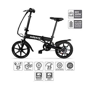 Nilox Doc X2, Bicicletta Elettrica, E-bike, Bicicletta a Pedalata Assistita, Bicicletta Elettrica Pieghevole,Ruota 16'', Motore  36V/250 W, Velocità max 25 Km/h, Nero 8 spesavip