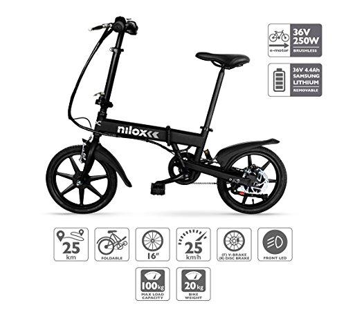 🥇 Nilox E Bike 36 V 16 P-X2 Bicicleta Eléctrica