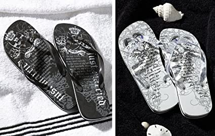 11eaf326e647 Image Unavailable. Image not available for. Color  Groom Wedding Honeymoon  Gifts Flip Flops ...