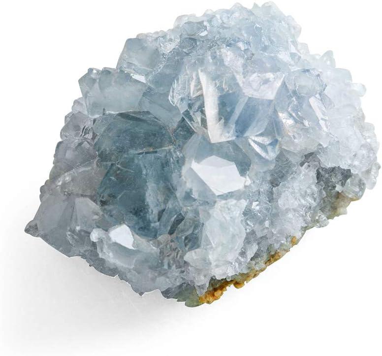 CXD-GEM A-Grade Celestite Natural Blue Celestite Cluster Specimen for Home Decor, 2-6 Ounce
