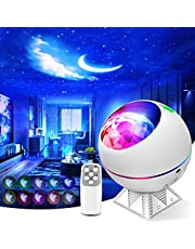 Galaxy Projector 3 in 1 Ocean Wave Projector Night Light Star Projector with Remote Voice Control, Nebula Cloud 360 Pro Glow Projector for Bedroom Ceiling Car Kid Adult Gift with 43 Light Modes