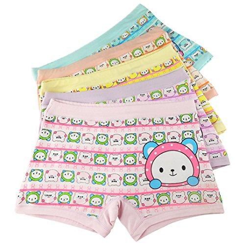Aivtalk Girls Hipster Organic Cotton Printing 5 Pack Girls Underwear Boxer Briefs Panties 6T