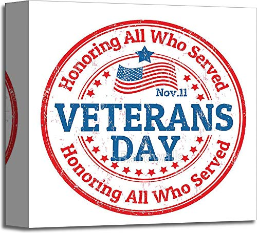 Veterans DayスタンプギャラリーWrappedキャンバスアート 12in. x 12in. B073WMQL6G  12in. x 12in.