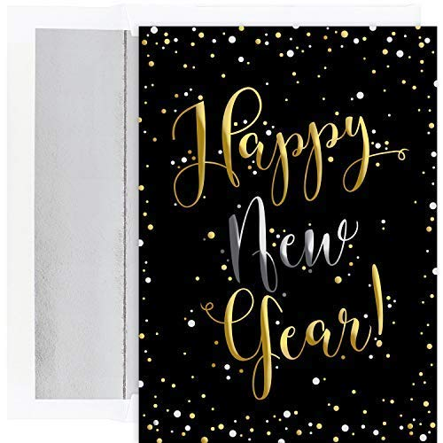 Masterpiece Holiday Collection 16-Count Christmas Cards with Foil Lined Envelopes, Happy New Year