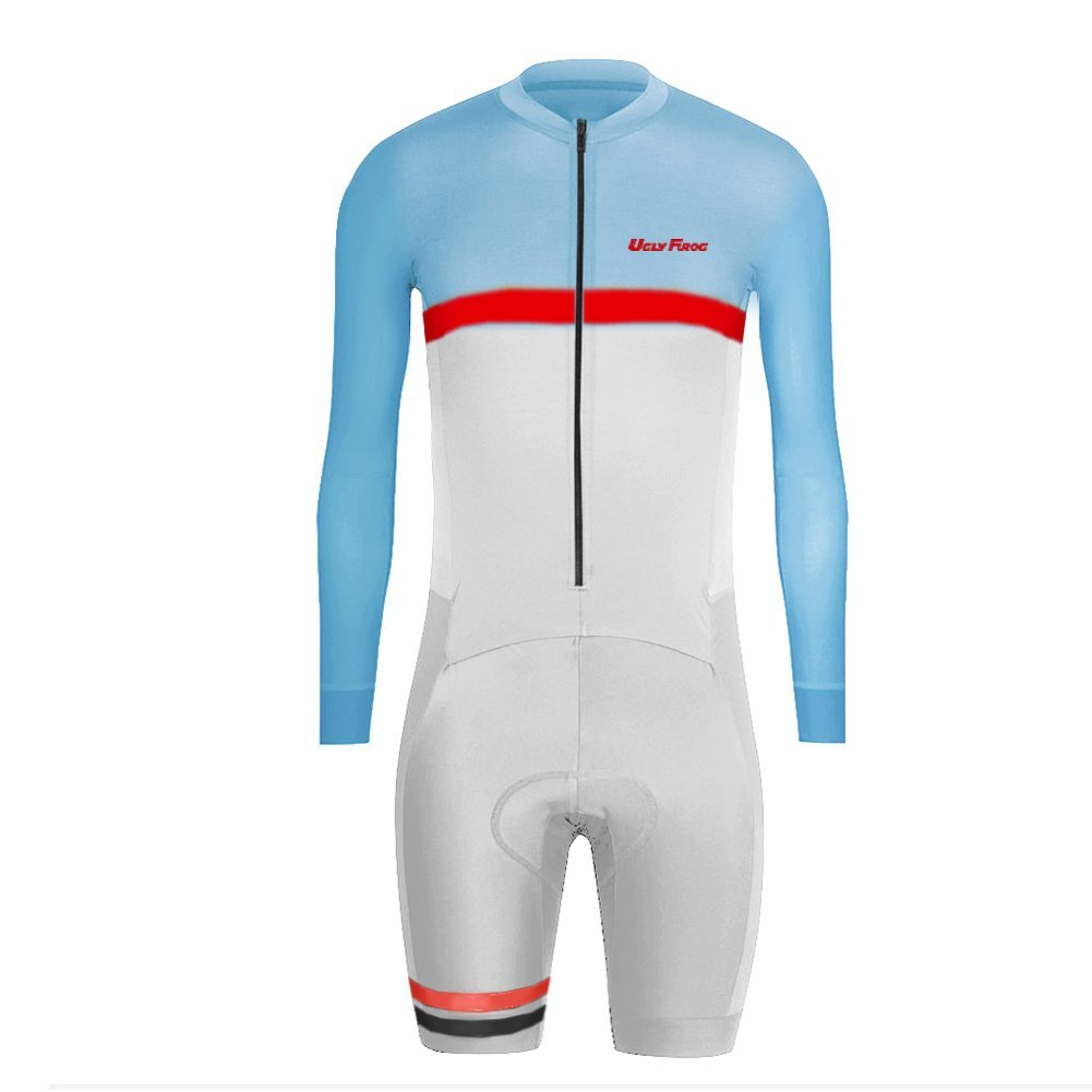 Uglyfrog 2016 New Men's Breathable Spring&Autumn Long Sleeve Skinsuit Cycling Kit with Gel Pad Outdoor Sports Wear Triathon Clothing CLT10