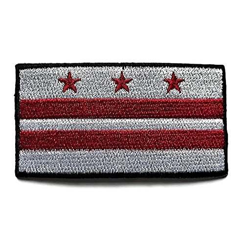 Washington DC Flag Patch/Cities of The World Sew-On Collection (WASH D.C, 2