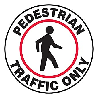 Amazon.com: Pedestrian Traffic Only Slip-Gard - Cartel de ...