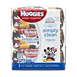 Health Household Baby Care Best Deals - Huggies Simply Clean Fragrance Free Baby Wipes Bundle 3-Pack 72, 216 Count