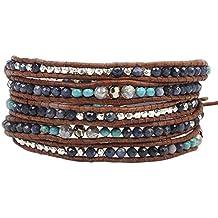 Chan Luu Womens Sapphire Mix Five-Wrap Bracelet