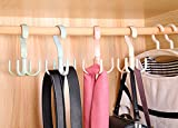 Cinlv 1pc Wardrobe Supreme 4 Hooks Scarf Belt Tie